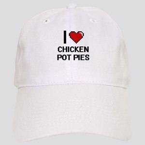 I love Chicken Pot Pies digital design Cap