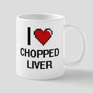 I love Chopped Liver digital design Mugs