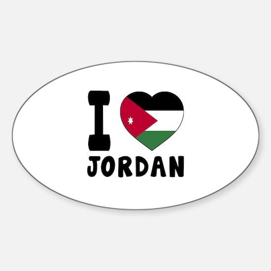 I Love Jordan Sticker (Oval)