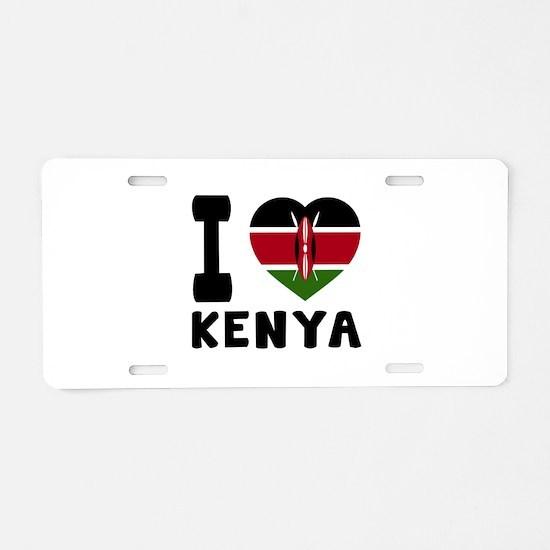 I Love Kenya Aluminum License Plate