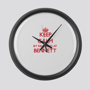 Keep calm by relaxing at Bennett Large Wall Clock