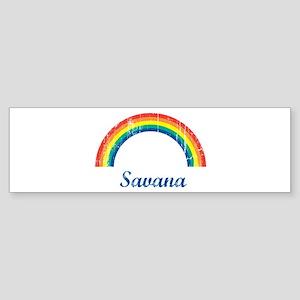 Savana vintage rainbow Bumper Sticker