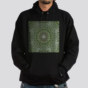 Preppy leaves pattern hipster Hoodie (dark)