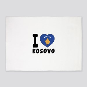 I Love Kosovo 5'x7'Area Rug