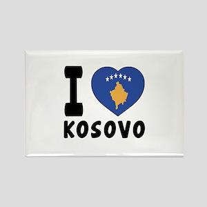 I Love Kosovo Rectangle Magnet
