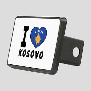 I Love Kosovo Rectangular Hitch Cover