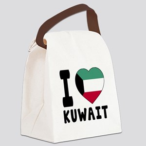 I Love Kuwait Canvas Lunch Bag