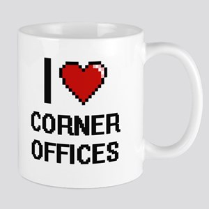 I love Corner Offices digital design Mugs