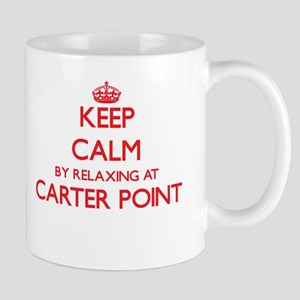 Keep calm by relaxing at Carter Point Washing Mugs
