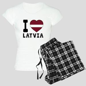 I Love Latvia Women's Light Pajamas