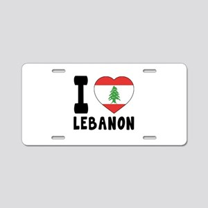 I Love Lebanon Aluminum License Plate