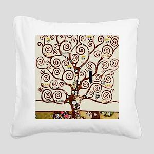 Klimt tree of life Square Canvas Pillow