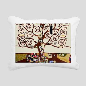 Klimt tree of life Rectangular Canvas Pillow