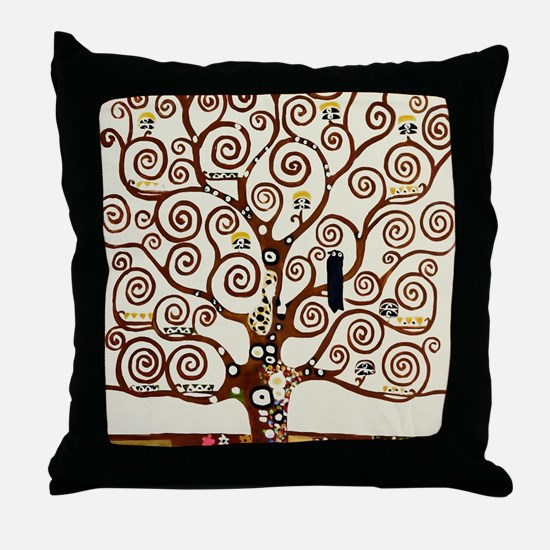 Klimt tree of life Throw Pillow