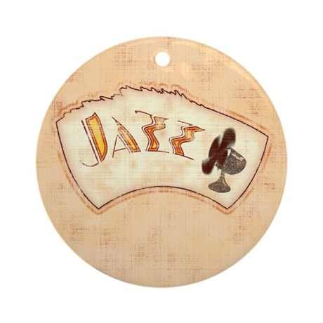 Jazz Fan Ornament (Round)