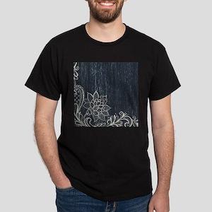 white lace black chalkboard T-Shirt