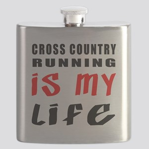 Cross Country Running Is My Life Flask