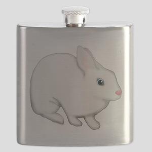 Blue Eyed White Bunny Rabbit Flask