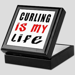 Curling Is My Life Keepsake Box