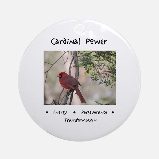 Cardinal Animal Medicine Gifts Round Ornament