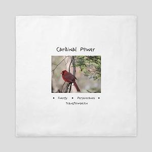 Cardinal Animal Medicine Gifts Queen Duvet