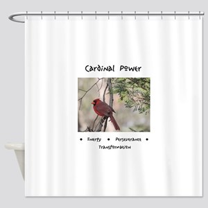 Cardinal Animal Medicine Gifts Shower Curtain