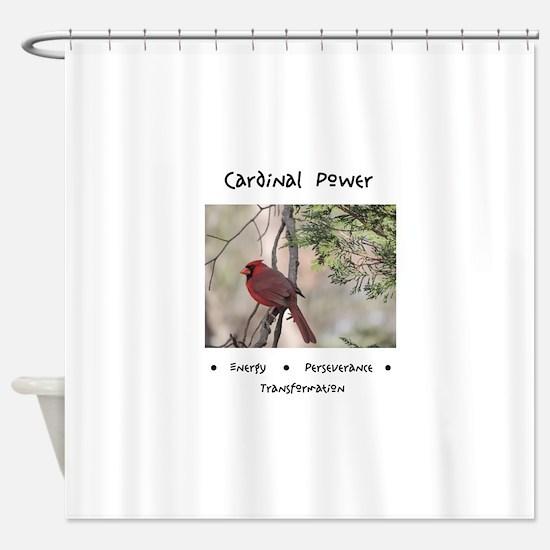 Cardinal Animal Medicine Gifts Shower Curtain
