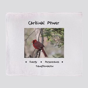 Cardinal Animal Medicine Gifts Throw Blanket
