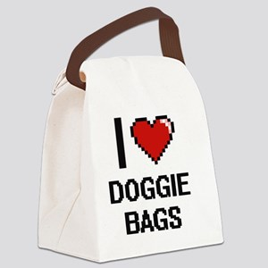 I love Doggie Bags digital design Canvas Lunch Bag