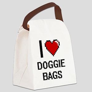 I love Doggie Bags digital design Canvas Lunch Bag