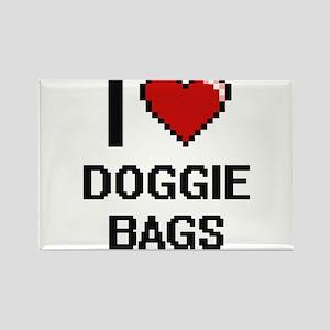 I love Doggie Bags digital design Magnets