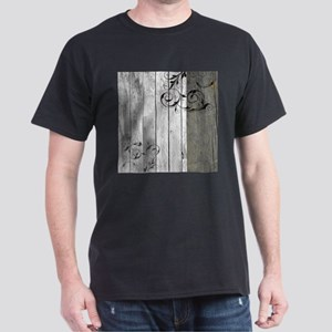 swirls primitive barn wood T-Shirt