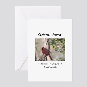 Red Cardinal Totem Greeting Cards