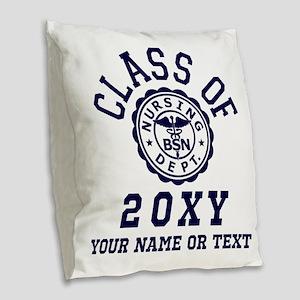Class of 20?? Nursing Burlap Throw Pillow