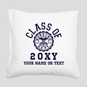Class of 20?? Nursing Square Canvas Pillow