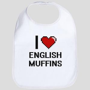 I love English Muffins digital design Bib