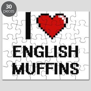 I love English Muffins digital design Puzzle