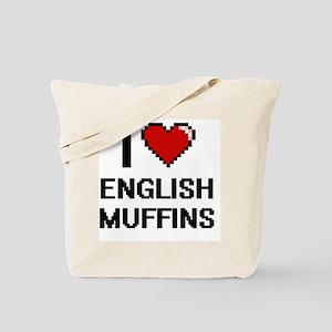I love English Muffins digital design Tote Bag