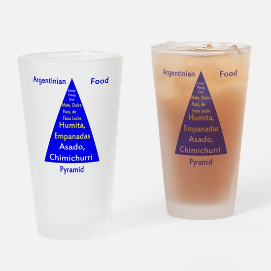 Argentinian Food Pyramid Drinking Glass