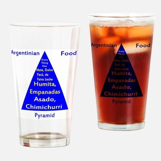 Argentinian Food Pyramid Drinking Glass