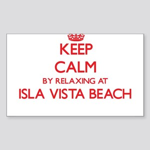 Keep calm by relaxing at Isla Vista Beach Sticker