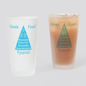 Greek Food Pyramid Pint Glass