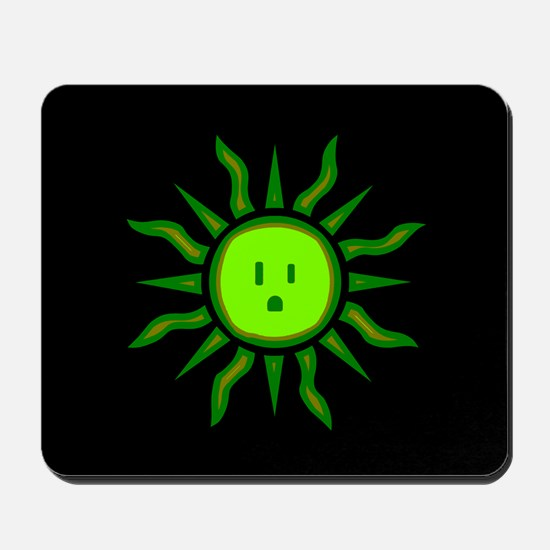 Green Electric Sun Mousepad