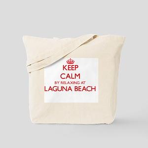 Keep calm by relaxing at Laguna Beach Cal Tote Bag