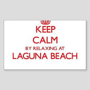 Keep calm by relaxing at Laguna Beach Cali Sticker