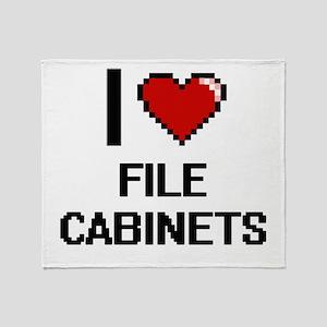 I love File Cabinets digital design Throw Blanket