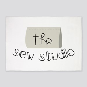 The Sew Studio 5'x7'Area Rug