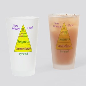 New Orleans Food Pyramid Pint Glass