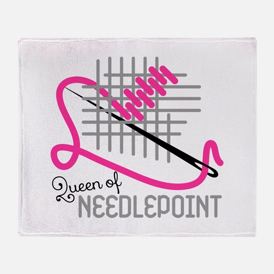 Queen Of Needle Point Throw Blanket