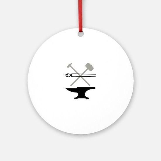 Blacksmith Round Ornament
